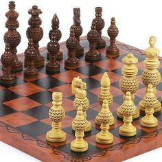 Monaco Deluxe Chessmen  Georgio Chess Board from Italy -- You can find out more details at the link of the image.