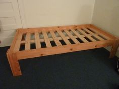 xl twin size nomad platform bed frame solid hardwood 12900 beds pinterest platform bed frame bed frames and platform beds - Simple Bed Frame