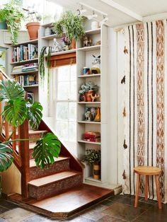 Indoor plants, ethnic texture and timber = Soulful Home