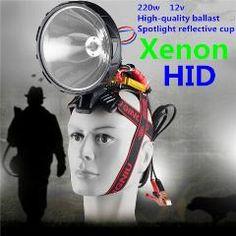 [ 24% OFF ] Headlamp Hid 55W 100W 220W Hunt Xenon Simple Installation Headlamp Xenon 100W Super Bright Searchlight Outdoor Flashlight 220W