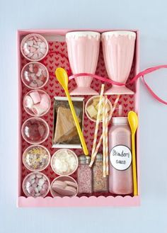 Ice Cream Decorating Hamper with Sauce and Toppings but not as pink!