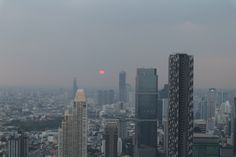 Sunsets in Bangkok Seattle Skyline, Bangkok, San Francisco Skyline, Sunsets, Travel, Viajes, Destinations, Traveling, Trips