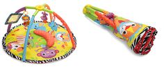 A flick of the wrist opens and closes this Infantino playmat, which can be rolled up into the size of a yoga mat