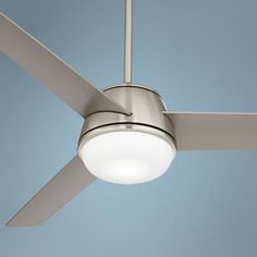 "52"" Casa Trophy™ Brushed Nickel LED Ceiling Fan"