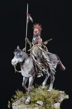 A beautiful plains warrior, tribe unknown (possibly Pawnee). Author unknown as well.