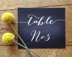 Wedding Table Numbers - Printable Chalkboard Design