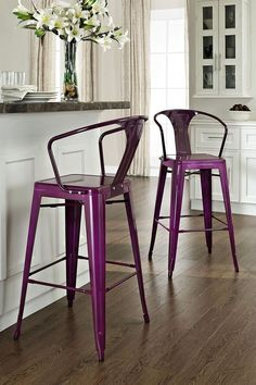 Popular Stools With Backs Silver Bar Stools Low Bar Stools Kitchen Bar Stool Chairs Bar Stool Kitchen Island Narrow Chairs White Swivel Tall Kitchen Chairs Bar Stools Design Interior custom shades decorating ideas for small easy plans Bar Stools With Backs, Metal Bar Stools, Counter Stools, Metal Chairs, Bar Counter, Purple Bar Stools, Metal Stool, Kitchen Chairs, Bar Chairs