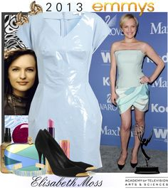 """""""'2013 Emmy Award Nominees - Elisabeth Moss'"""" by hexy on Polyvore"""