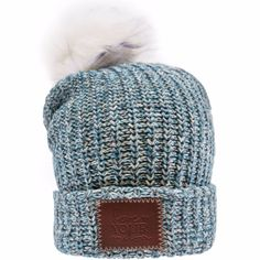 6d0589420ab Aztec Blue Pom Beanie (White Pom) – Love Your Melon Christmas 2016