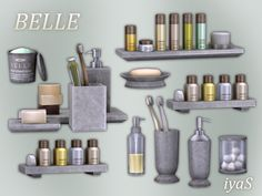 Simple and elegant high end bathroom essentials. Set contains 6 single objects and 3 combinations of decorative items. Found in TSR Category 'Sims 4 Decorative Sets'