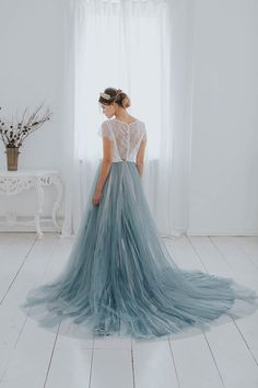 Light blue ideas for your VENUE 221 wedding! Light blue dresses, table settings, flowers, desserts and more! Pastel Blue Wedding, Light Blue Wedding Dress, Blue Wedding Gowns, Light Blue Dresses, Boho Wedding Dress, Pastel Wedding Dresses, Pastel Weddings, Blue Weddings, Spring Weddings