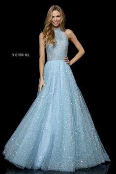 Buy dress style № 52266 designed by SherriHill Unique Prom Dresses, Fabulous Dresses, Cute Dresses, Bridesmaid Dresses, Formal Dresses, Tulle Skirt Dress, Tulle Ball Gown, Ball Gowns, Sherri Hill Gowns