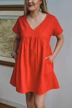 6f2fe16901ff Shop Pomp and Circumstance Boutique! Easy Breezy Dress in Tomato (in Sage  too!