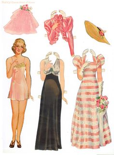 bride paper dolls - perfect table setting surprise for your flower girls