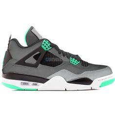 premium selection 4c602 ddf03 Air Jordan IV 4 Retro Green Glow Dark Grey Green Glow-Cement.