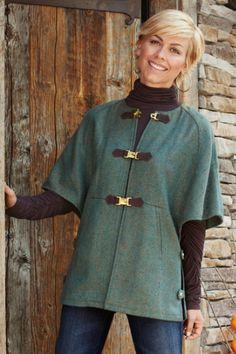 Hampstead Jacket - Womens Tweed Jacket, Raglan Sleeve Jacket, Vintage Inspired Jacket   Soft Surroundings