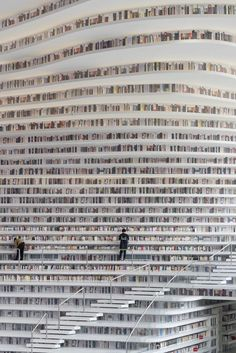 A Bookish Paradise: Ornate Library in Tianjin, China . - Bookworm Paradise: Artistic Library in Tianjin, China Bookworms usually prefer to retire to the bac - Tianjin, Beautiful Library, Dream Library, Library Books, Library Quotes, Reading Books, Cabinet D Architecture, Library Architecture, In China