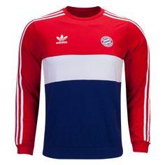 Bayern Munich Originals Crew Sweatshirt #adidas #Originals #Soccer #Apparel