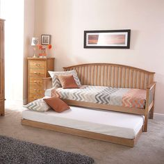 Madrid Oak Wooden Day Bed with Trundle | Dunelm