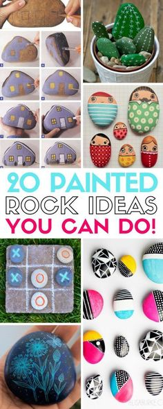Painted Rock Art For the Garden Easy DIY Ideas Inspirational Easy Easter egg painted rocks painted rocks that look like camper trailers Learn the best techniques for p. Pebble Painting, Pebble Art, Stone Painting, Stone Crafts, Rock Crafts, Arts And Crafts, Diy Crafts, Decor Crafts, Rock Painting Ideas Easy