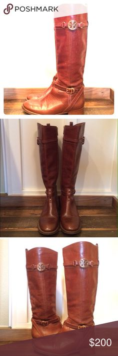 Beautiful Tory Burch Boots These are per used Tory Burch boots. They do have a scratch on then that you can see more pictures of them in my closet. They are woman size 7.5. They are in very good shape and smoke free home. Tory Burch Shoes Winter & Rain Boots