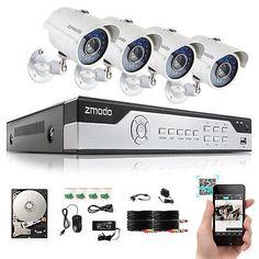 42843 electronics Zmodo 8CH HDMI DVR IR Night Outdoor Home Surveillance Security Camera System 1T  BUY IT NOW ONLY  $169.98 Zmodo 8CH HDMI DVR IR Night Outdoor Home Surveillance Security Camera System 1T...
