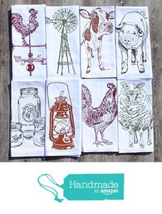 Barnyard Cotton Kitchen Napkins Set of 8 from Heaps Handworks http://www.amazon.com/dp/B015EUJPLA/ref=hnd_sw_r_pi_dp_2gNgwb1SEDPT4 #handmadeatamazon