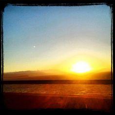 #awesomized #sunset from the San Mateo #bridge - @nochesazules- #webstagram
