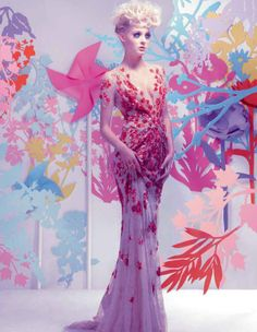 Riley Hillyer by Jason Ell (Flower Show - Harrods Magazine March Wedding Reception Design, Wedding Receptions, Flower Show, Flower Bomb, Fashion Project, Harrods, Dress To Impress, Editorial Fashion, High Fashion