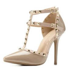 💕Tan/Nude Studded Heels💕 Nude/Tan, Gold Studs, approximately 4.5inch heel! Beyond beautiful, and very versatile! Brand New In Box, never worn! 🚨PRICE FIRM, no offers please😊 Wild Diva Shoes Heels