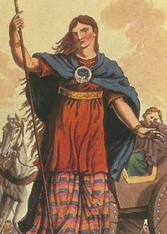 Artist concept of what Queen Boudicca looked like. Learn more ...