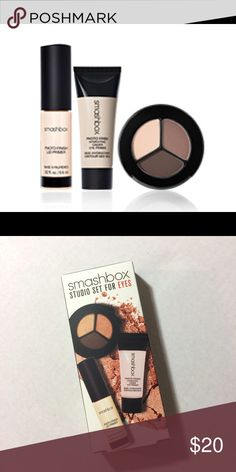 💎NIB💎Smashbox Deluxe Sample Studio Set For Eyes Accepting offers. No trades or low ballers. New in box. Never used or swatched. Comes with all three lid primer, under eye primer, and eyeshadow. No longer available anywhere. Deluxe sample sizes are generous sample sizes. Smashbox Makeup Eye Primer