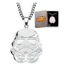 Star Wars Storm Trooper Pendant with Chain Necklace - Body Vibe - Star Wars - Jewelry at Entertainment Earth