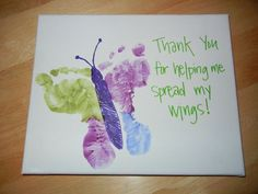 Footprint Teacher's Day Card. Say Thank You to the teachers with these special…