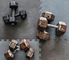 Looking to stock up that home gym with some used weights? Here are a few tips to rehab a set of rusty, used dumbbells into something that fits right into that garage workout space. Home Gym Basement, Diy Home Gym, Workout Room Decor, Gym Decor, How To Clean Rust, How To Remove Rust, Home Gym Equipment, No Equipment Workout, Diy Rust Remover