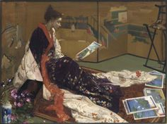 James McNeill Whistler (1834-1903) - Caprice in Purple and Gold:The Golden Screen, 1864