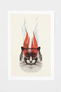 "Urban Outfitters ""Eyes of the Huntress"" Art Print, 13x19"" - $10 on sale"
