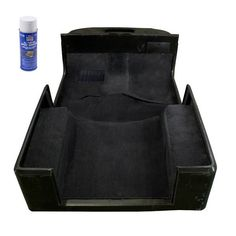 Nothing refreshes the inside of a vehicle like new carpet. This deluxe black carpet kit (with adhesive) features tufted polypropylene carpet with electronically surged edges that will not unravel. Pol