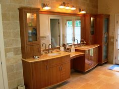 Contemporary Custom Bathroom Cabinets By Advantage Contracting In West Hartford Ct