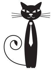 Black boy cat - vector