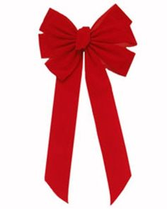 These Small Ribbon Bows have six loops and are ready to hang. These red velvet pre-made big bows are 12.5 inches wide and 26 inches long and is perfect to highlight our Artificial Garland and Lighted Christmas Garland. These large bows are made with quality velvet ribbon. The bows streamers are about 19.5 inches long. These Decorative Ribbon Bows can be used both indoors and outdoors...