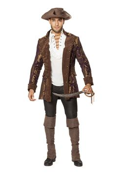 ROMA MENS PIRATE JACKET PARTY COSTUME #Roma #costume #party