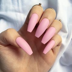 Strawberry Matte Nails • Ballerina Nails • Press on Nails • Any Shape or Size