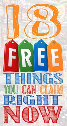 18 FREE things that you can claim right now! Coupons For Free Items, Free Coupons By Mail, Free Samples Without Surveys, Get Free Samples, Stuff For Free, Free Stuff By Mail, Sugar Free Popsicles, Paper Flower Patterns, Couponing For Beginners