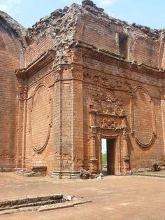 Ruins of La Santísima Trinidad de Paraná, Itapúa dpt, Paraguay. Along the Circuito de Oro.