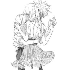 Looks a little like Natsu and Lucy, or at least, that's what I'm hoping :)