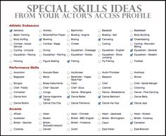Examples Of Special Skills For A Resume Resumes Cover