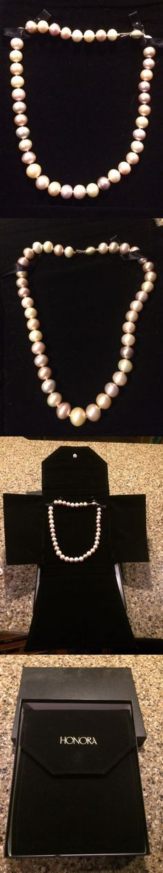 Pearl 164333: New Honora Ming Freshwater Pearl Necklace 20 Inch -14K White Gold Clasp BUY IT NOW ONLY: $315.0