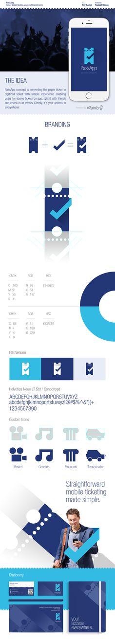 PassApp   Ticket Wallet Mobile App on Behance