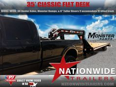Classic Flat Deck built with Monster Ramps, Dexter Axles, and Taller Risers to match the lift kit on this awesome truck! Lift Kits, Dexter, Fiat, Trucks, Classic, Awesome, Pictures, Photos, Dexter Cattle